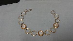 【送料無料】ブレスレット アクセサリ― ウェールズシルバーローズゴールドブレスレット¥welsh clogau silver amp; rose gold 7 ripples bracelet rrp 270