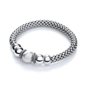 【送料無料】ブレスレット アクセサリ― メッシュルテニウムファンシーブレスレットmesh ruthenium finish fancy bracelet