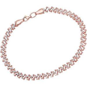 【送料無料】ブレスレット アクセサリ― ローズゴールドリンクブレスレットrevoni solid 9ct rose gold link bracelet 195 cm