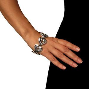 【送料無料】ブレスレット アクセサリ― スターリングシルバーブレスレットボックススクロールlarge melesion rodriguez sterling 925 silver floral scroll bracelet gift boxed