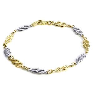 【送料無料】ブレスレット アクセサリ― ホワイトイエローゴールドツイストブレスレットインチ9ct white amp; yellow gold twist bracelet 7 inches adult ladies