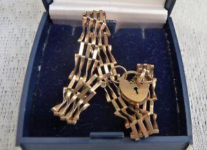 【送料無料】ブレスレット アクセサリ― ヴィンテージイエローゴールドバーファンシーゲートブレスレットレトロvintage 9ct yellow gold 4 bar fancy gate bracelet 86 sheffield hallmarked retro