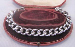 【送料無料】ブレスレット アクセサリ― ソリッドシルバーブレスレットheavy curb bracelet in solid silver