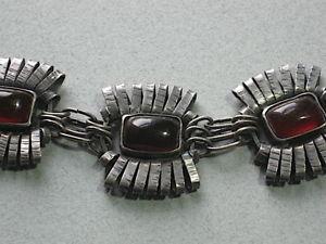 【送料無料】ブレスレット アクセサリ― アールデコシルバーオレンジブレスレットbeautiful art deco silver amp; amber bracelet