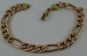 【送料無料】ブレスレット アクセサリ― ライトフィガロゴールドブレスレットリンクreducedhollow light 9 ladies gents figaro gold bracelet 125gr hm 8mm link cx66