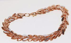 【送料無料】ブレスレット アクセサリ― ローズホワイトゴールドファンシーリンクブレスレットロブスタークラスプロング9ct rose amp; white gold fancy link bracelet lobster clasp 54g 75 long