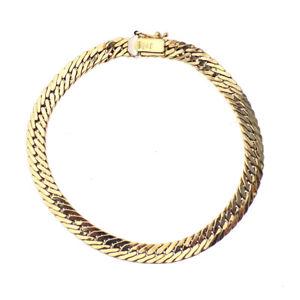 【送料無料】ブレスレット アクセサリ― イエローゴールドインチフラットタイトリンクブレスレット9ct yellow gold 7 12 inch flat tight curb link bracelet
