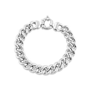 【送料無料】ブレスレット アクセサリ― スターリングシルバーメンズソリッドチェーンブレスレットインチfine sterling silver 925 gents mens curb solid chain heavy chunky bracelet 9inch