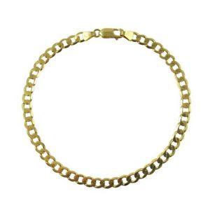 【送料無料】ブレスレット アクセサリ― イエローゴールドブレスレットチェーンオウムクラスプ 9ct yellow gold 47mm curb long 85inch bracelet chain 11mm parrot clasp