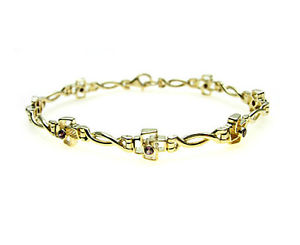 【送料無料】ブレスレット アクセサリ― ゴールドブレスレットガーネット9ct gold bracelet set with purple rhodanite garnet stones great value