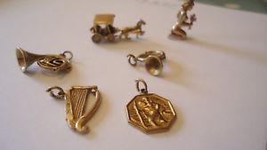 【送料無料】ブレスレット アクセサリ― ヴィンテージイエローゴールドグラムゴールドスクラップvintage 9ct yellow gold charms 102grams gold 6 charms not scrap