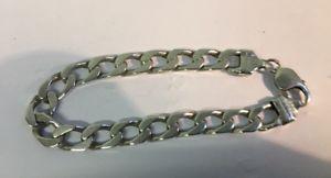 【送料無料】ブレスレット アクセサリ― ビンテージメンズウィメンズシルバーブレスレットブレスレットvintage menswomens silver bracelet w30g stamped length 85 strong bracelet