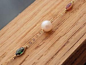 【送料無料】ブレスレット アクセサリ― ゴールドブレスレットプラス 18ct gold bracelet with pearls 750 plus giftbox