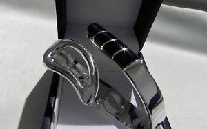 【送料無料】ブレスレット アクセサリ― スターリングシルバーメキシコタスコオニキスブレスレットimpeccable 52g substantial sterling silver 925 mexico taxco tr110 onyx bracelet