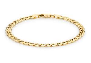 【送料無料】ブレスレット アクセサリ― イエローゴールドクラシックブレスレットボックス9ct yellow gold classic 6sided curb bracelet 215cm85 womens gift boxed