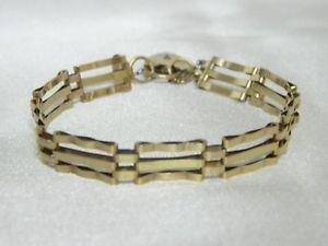 【送料無料】ブレスレット アクセサリ― ゴールドバーゲートブレスレット9ct gold 3 bar gate bracelet