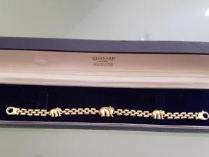 【送料無料】ブレスレット アクセサリ― ゴージャスイエローゴールドエレファントブレスレットgorgeous 9ct yellow gold elephant bracelet 7 12 1274g