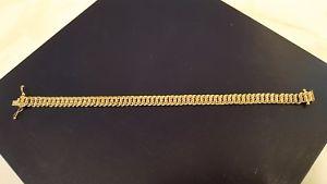 【送料無料】ブレスレット アクセサリ― ゴールドロープリンクデザイングラム9ct gold rope link design braclet 7 12 weight 99 grams