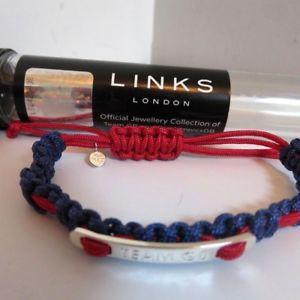 【送料無料】ブレスレット アクセサリ― ロンドンチームパラリンピックオリンピックブレスレットlinks london team gb paralympics olympics 2012 silver plated friendship bracelet