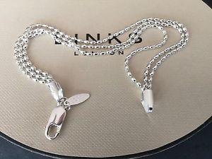 【送料無料】ブレスレット アクセサリ― ロンドンボールチェーンブレスレット listinglinks of london silver 20cm essential three 3 row oval ball chain bracelet bnib