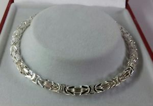 【送料無料】ブレスレット アクセサリ― シルバーレディースソリッドビザンチンブレスレットインチイギリス listingsterling silver ladies solid byzantine bracelet 85 inch 135g british made