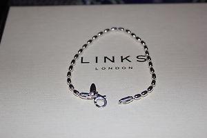 【送料無料】ブレスレット アクセサリ― ロンドンスターリングシルバーボールチェーンブレスレットリンクgenuine links of london sterling silver 20 cm large oval ball chain bracelet