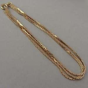 【送料無料】ブレスレット アクセサリ― ビンテージゴールドトリプルストランドブレスレットグラム listingelegant vintage 9ct gold triple strand bracelet 46 grammes