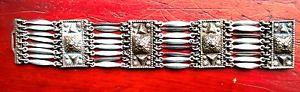 【送料無料】ブレスレット アクセサリ― メキシコスターリングシルバーヘビーブレスレットグラムstatement ethnic mexican sterling 925 silver heavy bracelet weighs 58 grams