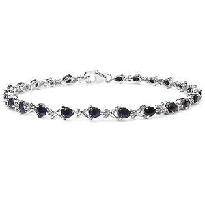 【送料無料】ブレスレット アクセサリ― レディーススターリングシルバーサファイアブレスレットセットladies sterling silver natural sapphire set bracelet anniversary birthdaygift
