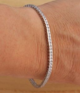 【送料無料】ブレスレット アクセサリ― ソリッドスターリングシルバーテニスブレスレットプリンセスカットsolid 925 sterling silver tennis bracelet 3x2mm princess cut cz 7 uk hallmarked
