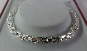 【送料無料】ブレスレット アクセサリ― スターリングシルバーレディースソリッドビザンチンブレスレットインチsterling silver ladies solid byzantine bracelet 775 inch 171g hallmarked