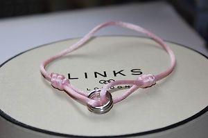 【送料無料】ブレスレット アクセサリ― ロンドンピンクシルクコードブレスレットリンクgenuine links of london silver 2020 pink silk cord friendship bracelet