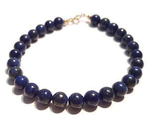 【送料無料】ブレスレット アクセサリ― ラピスラズリブレスレットゴールドクラスプビードインチlapis lazuli bracelet, 9ct gold clasp, natural gemstone beads, 75 inch