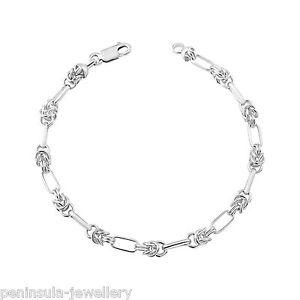 送料無料 ブレスレット アクセサリ― 775リンクスターリングsterling silver ladies 775 fancy link bracelet gift boxedYbf7v6yg