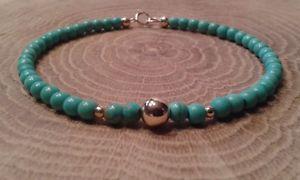 【送料無料】ブレスレット アクセサリ― ミナスソリッドゴールドアリゾナターコイズブレスレットminas gemstone solid 9ct gold arizona turquoise bracelet 8