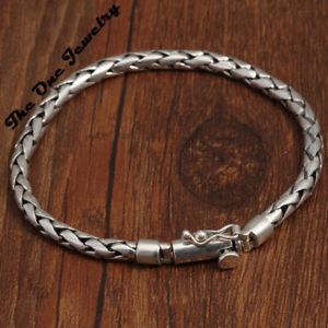 【送料無料】ブレスレット アクセサリ― スターリングシルバーメンズツイストヘビーチェーンブレスレットsterling silver mens twisted heavy chain bracelet hallmarked 825 3385g
