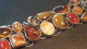 送料無料 ブレスレット アクセサリ― シルバーレディースオレンジメノウタイガーアイブレスレットsilver 925 ladies amberagatetigers eye etc bracelet4Ajqc3RL5
