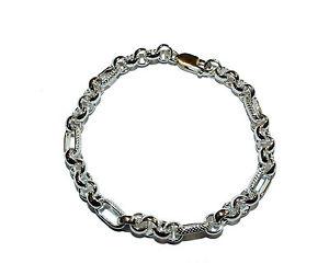 【送料無料】ブレスレット アクセサリ― スターリングシルバーブレスレットfully hallmarked sterling silver handmade 75 fancy bracelet