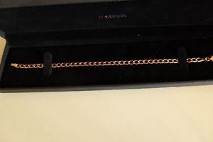 【送料無料】ブレスレット アクセサリ― サミュエルローズゴールドソリッドチェーンブレスレット h samuel 9ct rose gold solid womens 75 fancy oval curb chain bracelet