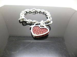 【送料無料】ブレスレット アクセサリ― ベルチャーバーファスナーリンクブレスレットsterling silver belcher link bracelet with tbar fastener and love heart charm