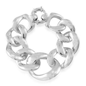 【送料無料】ブレスレット アクセサリ― シルバーインチブレスレットcurb silver bracelet for women 8 inches