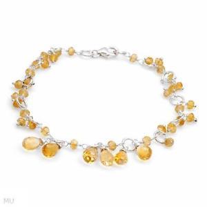 【送料無料】ブレスレット アクセサリ― スターリングシルバーシトリンブレスレットインチ925 sterling silver 720 ctw citrine bracelet 7 inches