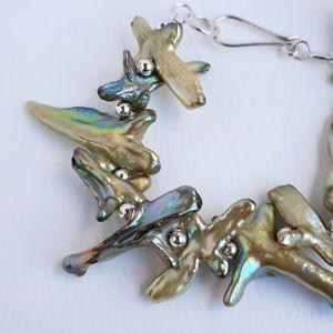 【送料無料】ブレスレット アクセサリ― ブレスレットスターリングシルバービーズクラスプハンドメイドgreen cross shaped fwpearl bracelet sterling silver beads s clasp handmade uk
