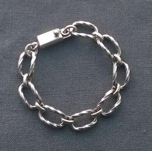 【送料無料】ブレスレット アクセサリ― quality solid 925 925sterlingtwist effect ovalsbracelet 7quality solid 925 925 sterling silver twist effect ovals bracelet