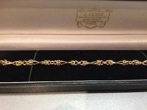 【送料無料】ブレスレット アクセサリ― ゴールドチェーンブレスレット9ct gold delicate chain bracelet, 3gm
