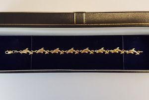 【送料無料】ブレスレット アクセサリ― ビンテージゴールドインチイルカブレスレットスクラップbeautiful vintage 9ct gold 75 inches dolphins bracelet no scrap