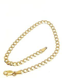 【送料無料】ブレスレット アクセサリ― ソリッドイエローゴールドチェーンブレスレット9ct solid yellow gold curb chain bracelet 725 fully hallmarked