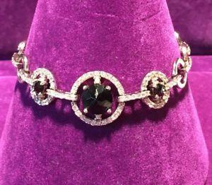 【送料無料】ブレスレット アクセサリ― スターリングシルバーガーネットデザイナーユニークブレスレットインチ** 925 sterling silver cz amp; garnet designer unique bracelet 75 inch