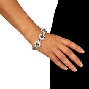 【送料無料】ブレスレット アクセサリ― スターリングシルバーブレスレットflower 925 sterling silver floral bracelet