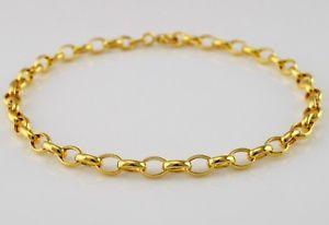 【送料無料】ブレスレット アクセサリ― イエローゴールドベルチャーブレスレットインチ9ct yellow gold oval belcher bracelet 19cm 75 inch
